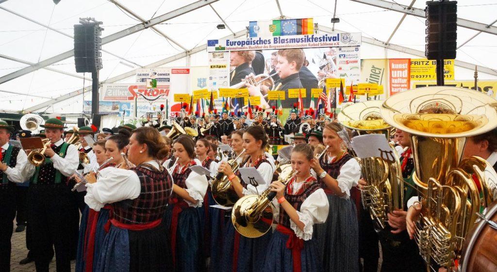 Europäisches Blasmusikfestival in Aue-Bad Schlema